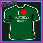 I LOVE HEART NORTHERN IRELAND ULSTER TSHIRT